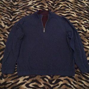 Tommy Bahama Reversible Quarter Zip Sweater XL